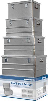 Transportbehälter SET, Aluminium, 4 teilig