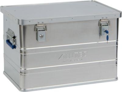 Transportbox Alutec CLASSIC 68, aluminium, 68 l, L 575 x B 385 x B 385 x H 375 mm, cilindersloten