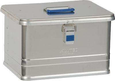 Transportbox Alutec COMFORT 30, Aluminium, 30 l, L 430 x B 335 x H 273 mm, ohne Stapelecken, stabiler Deckel