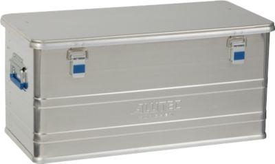 Transportbox Alutec COMFORT 92, aluminium, 92 l, L 780 x B 385 x B 385 x H 367 mm, stevig deksel