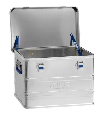 Transportbox Alutec INDUSTRY 73, Aluminium, 73 l, L 580 x B 385 x H 410 mm, mit Stapelecken, stabiler Deckel