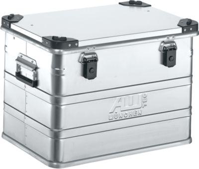 Transportbox Premium, Aluminium, mit Stapelecken, 76 l