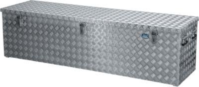 Transportkist, aluminium traanplaat met gasdrukdemper, 470 l