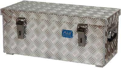 Transportkist, aluminium-traanplaat, met vangbanden, 37 liter