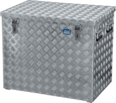 Transportkiste, Aluminium-Riffelblech, mit Fangbänder, 234 l