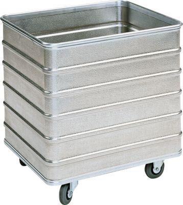 Transportwagen aus Leichtmetall, ohne Deckel, 229 l