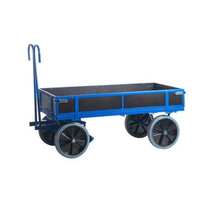 transportwagen met 4 schotten, rubber banden, 1960x960