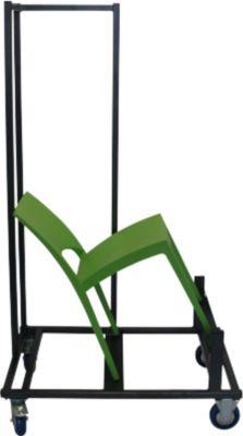 Transportwagen voor stapelstoel SOL, voor max. 20 stuks, met zwenk- en bokwielen