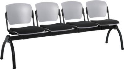 Traversenbank, 4-Sitzer, grau/schwarz
