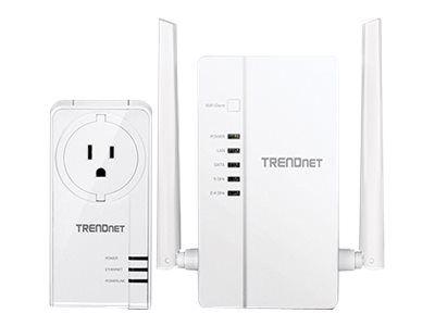 TRENDnet WiFi Everywhere Powerline 1200 AV2 Kit TPL-430APK - Bridge - 802.11n/ac - an Wandsteckdose anschließbar