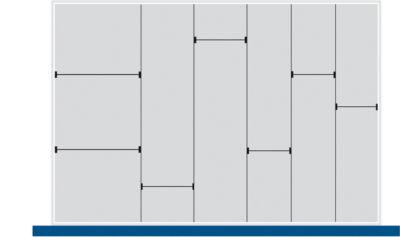 Trenn-/Steckwand-Sortiment, 5 Trennwände, 7 Steckwände, für Serie Verso, für Fronthöhe Schublade 175 mm, H 127 mm