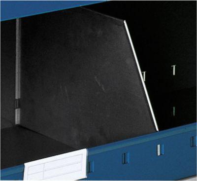 Trennblech Typ A für Lagerwanne, T 385 x H 300 mm