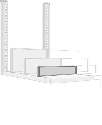 Trennwand, freistehend, für Regaltiefe 500 mm, H 100 mm