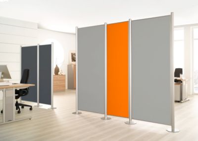 Trennwand, Silent Line Plus, 800 x 1700 mm, hellgrau