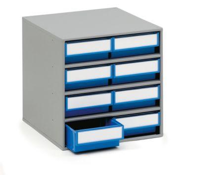 TRESTON Schubladenmagazin 0840, 8 Schubladen, T 400 mm, blau