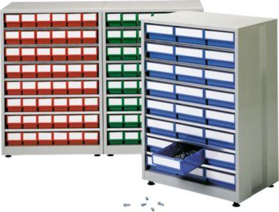 Schubladenregal, mit 24 Schubladen, rot