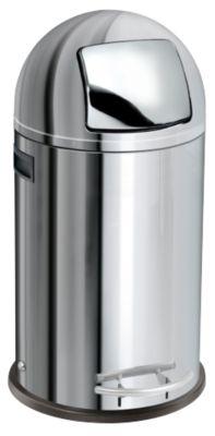 Tret-Abfallsammler Kick Maxx, 35 Liter, Edelstahl