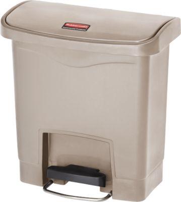 Tretabfalleimer Slim Jim®, Kunststoff, Fassungsvermögen 15 Liter, beige