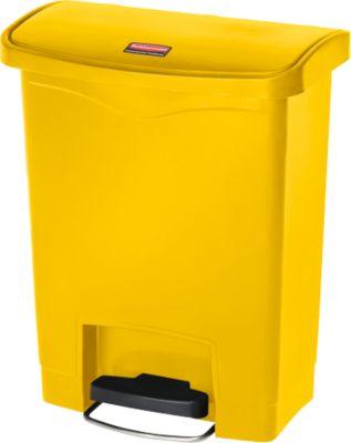 Tretabfalleimer Slim Jim®, Kunststoff, Fassungsvermögen 30 Liter, gelb