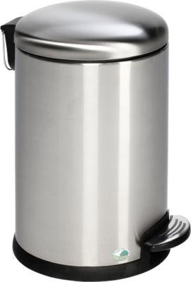 Tretabfalleimer Soft close, 20 Liter aus Edelstahl