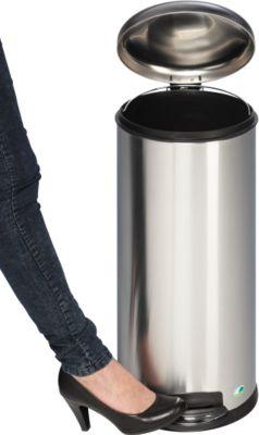 Tretabfalleimer Soft close, 30 Liter aus Edelstah