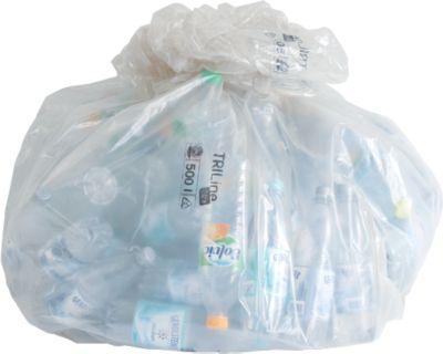 TRILine® ecologische vuilniszakken, met een grote inhoud, 500 l, 790 + 660 x 1800 mm, 50 stuks