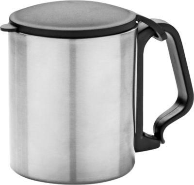 Trinkbecher, mit Karabiner, aus Edelstahl, Inhalt 200 ml