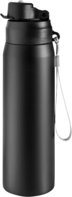 Trinkflasche Metmaxx® GenerationRefill, Edelstahl, 400 ml, schwarz, inkl. Werbeanbringung