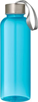 Trinkflasche Utah, aus Tritan, 0,5 Liter, mit Kunststoffverschluss und Schlaufe, transp.-blau