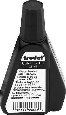 Trodat stempelinkt, 28 ml, zwart