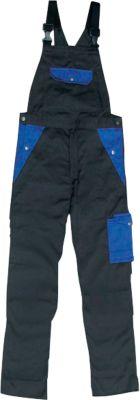 Tuinbroek antraciet/blauw, 44