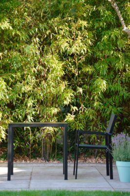 Tuintafel Jan Kurtz Nova, rechthoekig, aluminium gepoedercoat, B 800 x D 800 x H 750 mm, zwart.