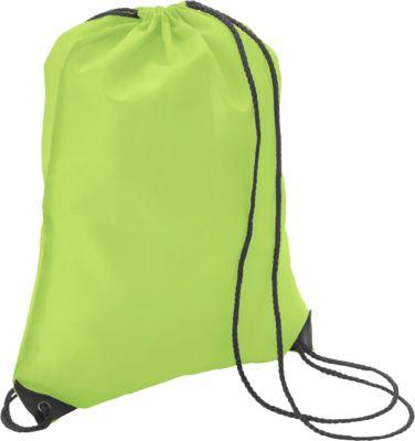 Turnbeutel Premium, aus Polyester, mit Zugkordel, apfelgrün