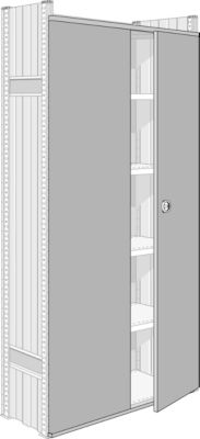 Tweevleugeldeur voor systeem R 3000/4000, voor veldbreedte 995 mm