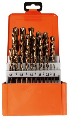 Twistboorset Projahn BASIC, 25 korte schroefboormachines, in metalen doosje