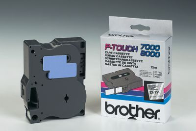 TX-tapecassette TX-151, 24 mm breed, transparant/zwart