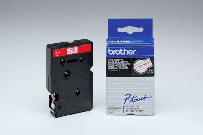 TZ-tapecassette TC-292, 9 mm breed, wit/rood