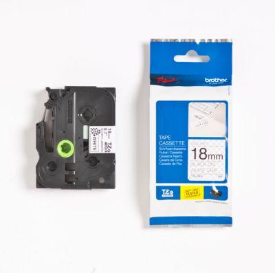 TZ-tapecassette TZ-SE4, wit/zwart,
