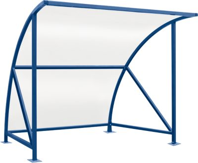 Überdachungssystem Modell Bamberg, transparent, B 2040 mm, enzianblau RAL 5010
