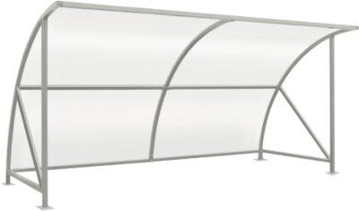 Überdachungssystem Modell Bamberg, transparent, B 4080 mm, verzinkt