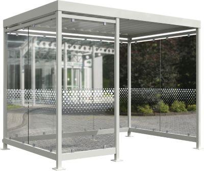Überdachungssystem Modell Köln K3 c/b, Bausatz, grauweiß