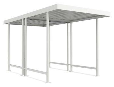 Überdachungssystem Modell Leipzig, doppelseitig, Grundeinheit, B 2250 mm, grauweiß