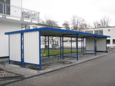 Überdachungssystem Modell Leipzig, doppelseitig, Grundeinheit, B 4300 mm, verzinkt