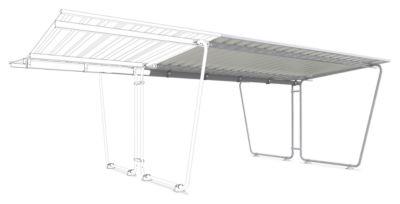 Überdachungssystem Modell Siegen, Anbaueinheit, doppelseitig, B 4300 mm