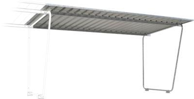 Überdachungssystem Modell Siegen, Anbaueinheit, einseitig, B 4300 mm