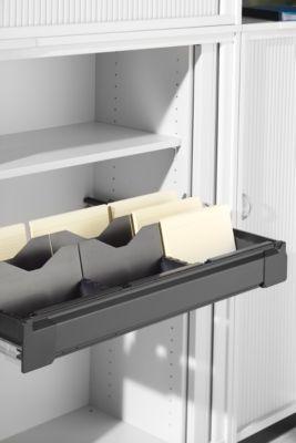 Uittrekbare kaartenbak, voor roldeurkast, voor b 1350 mm