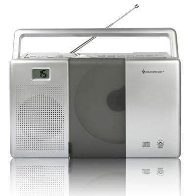 UKW-Radio Soundmaster RCD1180, CD/Hörbuchfunktion, Netz-/Batteriebetrieb, tragbar