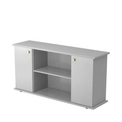 ULM sideboard, h 840 x b 1661 x d 448 mm, lichtgrijs