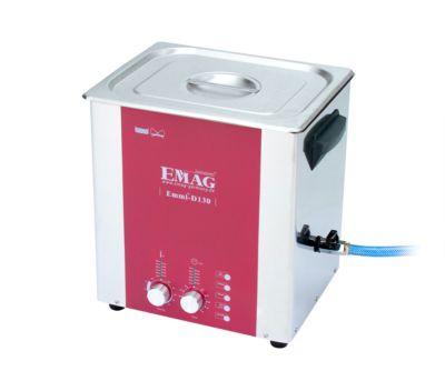 Ultraschallreiniger EMAG Emmi® D 130, Edelstahl, 13 l, Sweep & Degas, Zeitschaltuhr, Ablauf & Heizung