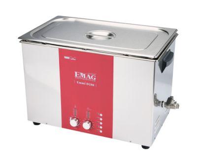 Ultrasoonreiniger EMAG Emmi® D 280, roestvrij staal, 28 l, Veeg & Degas, timer, afvoer & verwarming, EMAG EMAG Emmi® D 280, 28 l, Veeg & Degas, timer, afvoer & verwarming.
